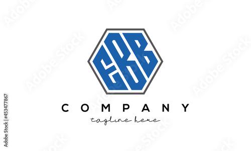 Fotografie, Obraz letters EBB creative polygon logo victor template