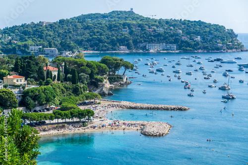 Obraz na plátně Côte méditerranéenne entre La Turbie et Nice sur la Côte d'Azur en France