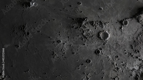 Fotografia the surface of the moon in craters close-up