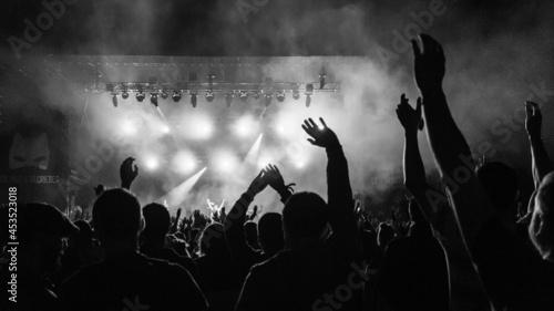 Fotografie, Tablou crowd of people dancing