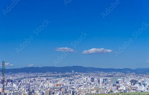 Fotografering 大阪風景 淀川区 豊中市方面 青空