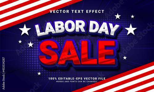 Labor day sale editable text style effect suitable for sales promotion at labor day celebration