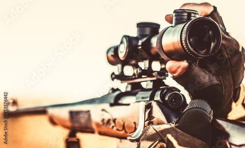 Canvastavla Hunt hunting rifle