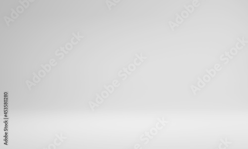 Foto Abstract pastel gray color and gradient white light background in studio table backdrops display product design