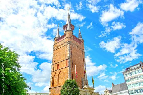 Slika na platnu Kortrijk, West Flanders, Belgium - old belfry