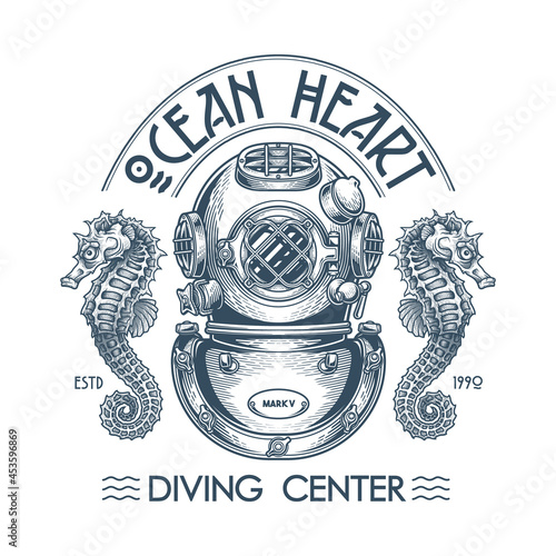 """Obraz na plátne """"Ocean heart"""