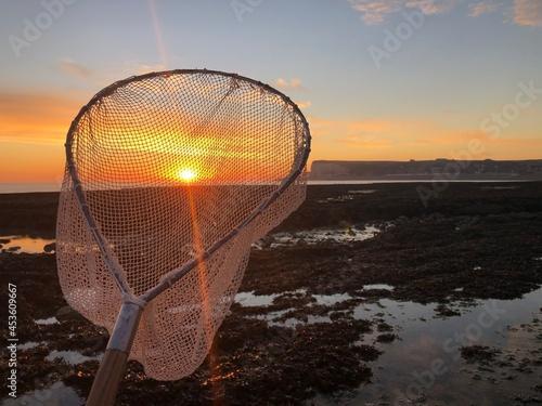 Fotografiet coucher de soleil falaises du pays de caux