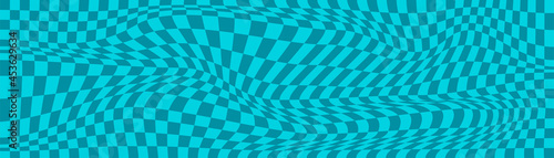 Fotografia Checkered background with distorted squares