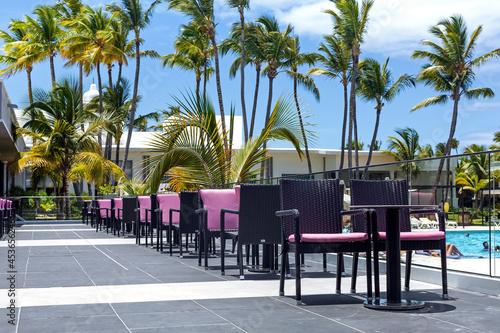 Restaurant outside, tropical destination Fotobehang