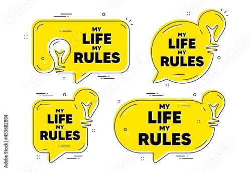 Fotografie, Obraz My life my rules motivation message