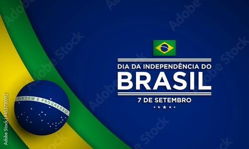 Obraz na plátně Brazil Independence Day Background Design Template.