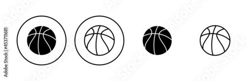 Canvastavla Basketball icon set