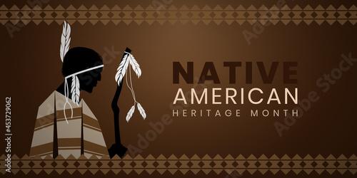 Fotografie, Obraz Native American Heritage Month background design