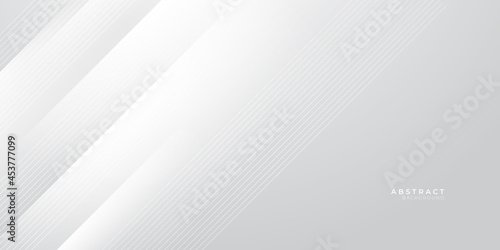 Foto White grey abstract presentation background