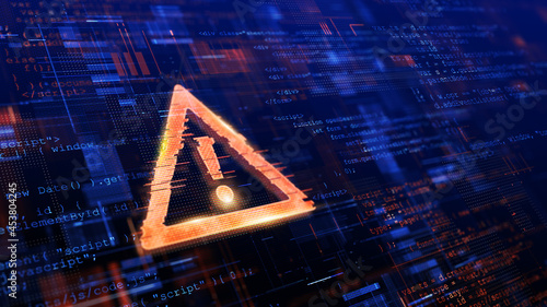 Tela Computer Hacked, System Error, Virus, Cyber attack, Malware Concept