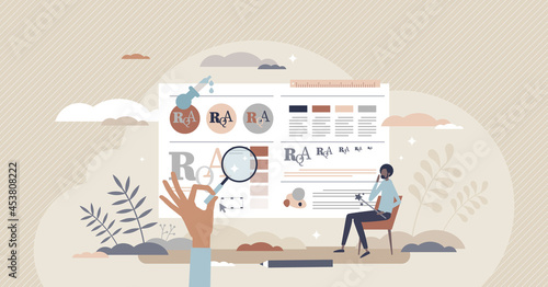 Wallpaper Mural Brand guidelines and branding standard strategy creation tiny person concept