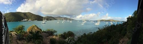 Canvastavla Caribbean arbour panorama