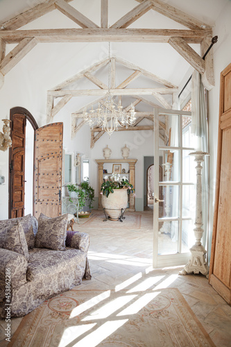 Tablou Canvas Archways and corridor of luxury home