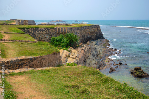 Fotografiet On the ancient bastions of the Galle, sunny day. Sri Lanka