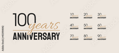 Leinwand Poster Set of anniversary icons