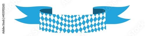 Fotografija Bavarian ribbon Oktoberfest seamless pattern with blue and white rhombus Flag of