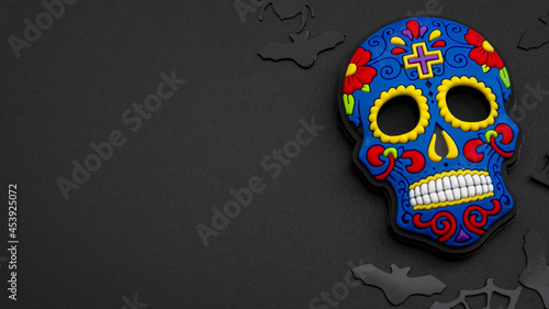 Photo Halloween backgrounds, Mexican culture and Dia de los Muertos (day of the dead)