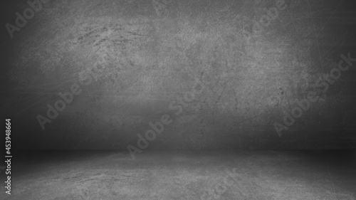 Foto Charcoal Gray Grunge Cement Wall and Floor Studio Room Space Product Display Bac