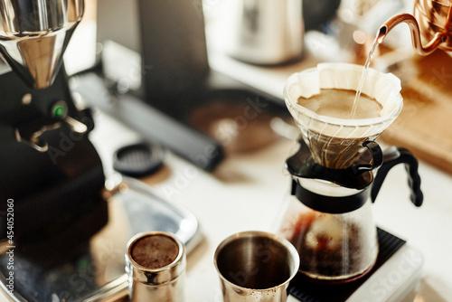 Making drip coffee in cafe Fototapeta