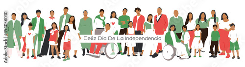 Fotografie, Obraz Greeting card for Independence day of Mexico