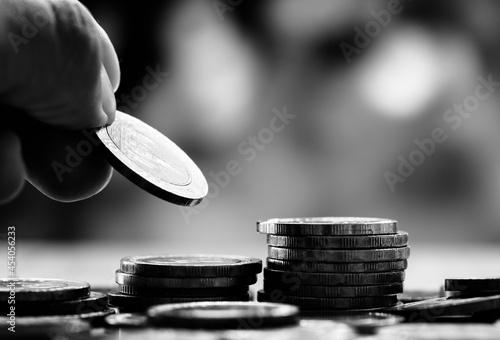 Slika na platnu Macro shot of financial concept
