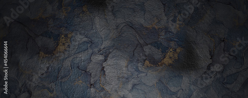 Canvastavla Rock Stone Wall Cave Pattern Grungy Dark Banner Texture Background Wallpaper in