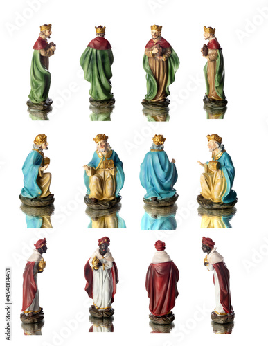 Fotografiet The three wise men with different positions