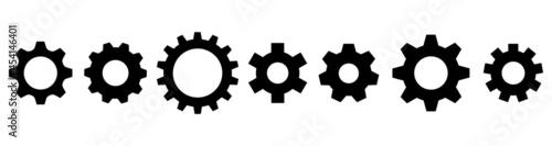 Fotografia Gear setting icon vector collection