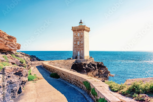 Murais de parede Kermorvan lighthouse in the French Brittany