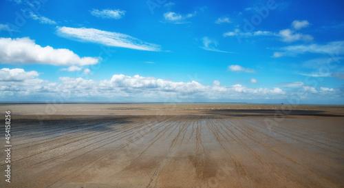 Fotografia low tide on the Atlantic coast in France
