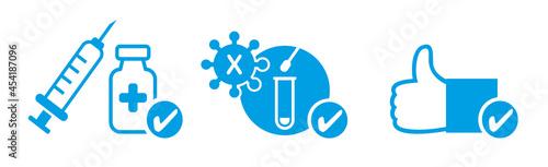Fotografia 3G Regel - Geimpft - Getestet - Genesen. Vektor Illustration