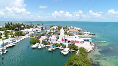 Billede på lærred Drone View of Conch Key Marathon Florida