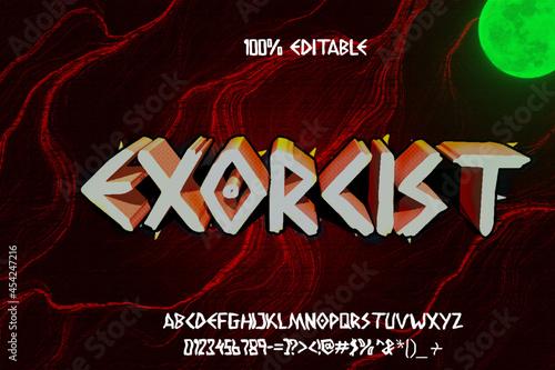 Tablou Canvas 3d Horror Exorcist scary movie alphabet font