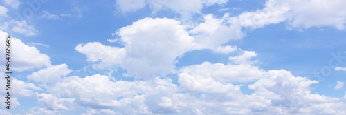 Canvastavla Beautiful blue sky cloudsfor background. Panorama of sky.