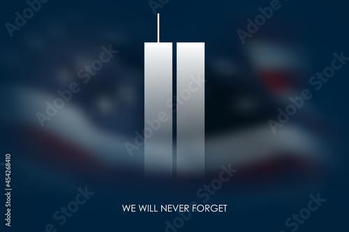 Canvastavla 9/11 USA Never Forget September 11, 2001