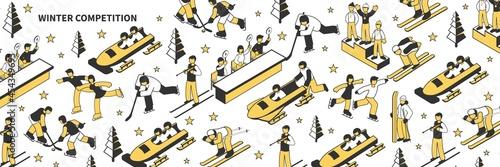 Slika na platnu Winter Competition Pattern