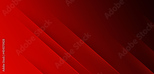 Abstract elegant red gradient background with shiny lines. Modern simple diagonal lines texture design. Minimal vector stripes graphic element. Vector illustration