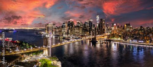 Fotografering Brooklyn Bridge Manhattan new York