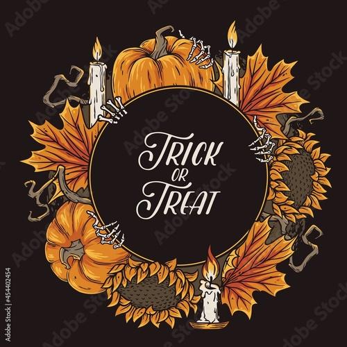 Fototapeta Halloween background for celebration autumn party