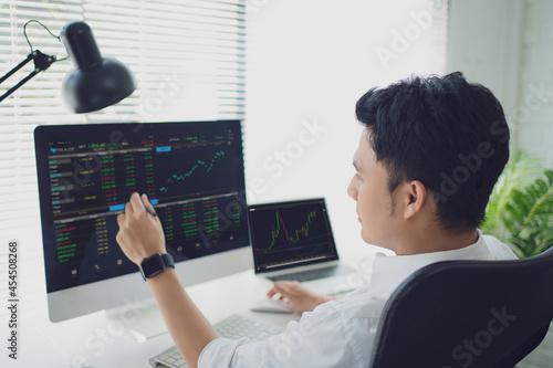 Analyzing data Fototapet