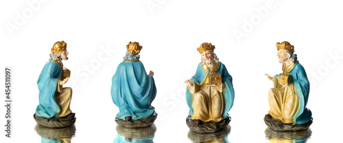 Fotografia Melchior, the oldest and first of the three wise men different positions