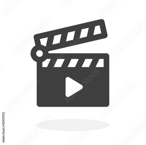 Fotomural Movie clapperboard or film clapboard icon vector illustration.