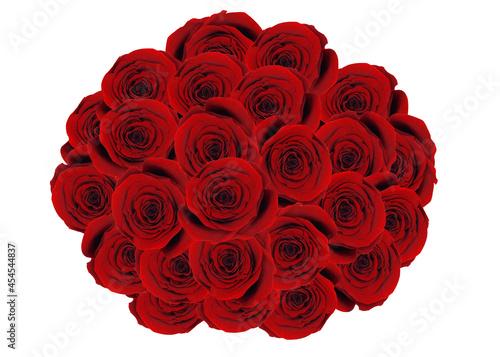 Duży bukiet z róż