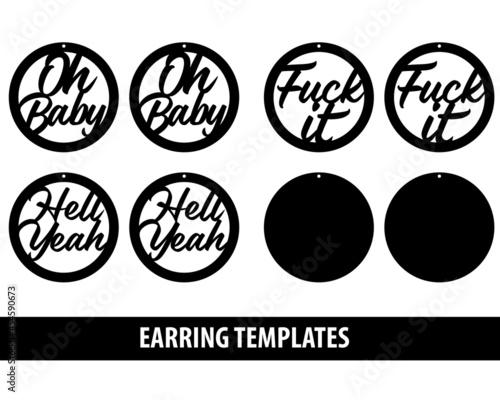 Earring templates Fototapet