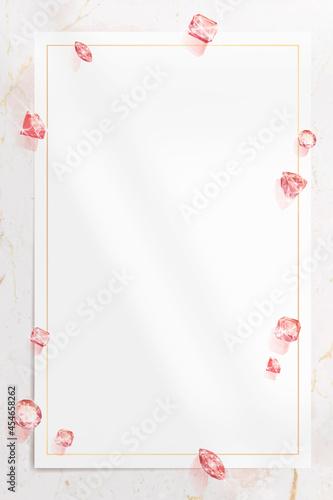 Canvastavla Pink crystal gem design vector
